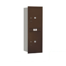 Salsbury Industries 3713S-2PZRP Recessed Mounted 4C Horizontal Mailbox - 13 Door High Unit (48 Inches) - Single Column - Stand-Alone Parcel Locker - 2 PL6's - Bronze - Rear Loading - Private Access