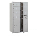 Salsbury Industries 3714D-07AFP Recessed Mounted 4C Horizontal Mailbox - 14 Door High Unit (51 1/2 Inches) - Double Column - 7 MB2 Doors / 2 PL6s - Aluminum - Front Loading - Private Access