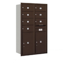 Salsbury Industries 3714D-07ZRP Recessed Mounted 4C Horizontal Mailbox - 14 Door High Unit (51 1/2 Inches) - Double Column - 7 MB2 Doors / 2 PL6s - Bronze - Rear Loading - Private Access