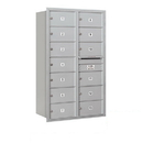 Salsbury Industries 3714D-13ARP Recessed Mounted 4C Horizontal Mailbox - 14 Door High Unit (51 1/2 Inches) - Double Column - 13 MB2 Doors - Aluminum - Rear Loading - Private Access