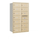 Salsbury Industries 3714D-13SRP Recessed Mounted 4C Horizontal Mailbox - 14 Door High Unit (51 1/2 Inches) - Double Column - 13 MB2 Doors - Sandstone - Rear Loading - Private Access