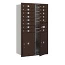 Salsbury Industries 3714D-14ZFU Recessed Mounted 4C Horizontal Mailbox - 14 Door High Unit (51 1/2 Inches) - Double Column - 14 MB1 Doors / 2 PL6s - Bronze - Front Loading - USPS Access
