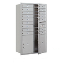 Salsbury Industries 3714D-16AFU Recessed Mounted 4C Horizontal Mailbox - 14 Door High Unit (51 1/2 Inches) - Double Column - 16 MB1 Doors / 2 PL5s - Aluminum - Front Loading - USPS Access