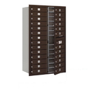 Salsbury Industries 3714D-26ZFP Recessed Mounted 4C Horizontal Mailbox - 14 Door High Unit (51 1/2 Inches) - Double Column - 26 MB1 Doors - Bronze - Front Loading - Private Access