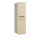 Salsbury Industries 3714S-03SRU Recessed Mounted 4C Horizontal Mailbox - 14 Door High Unit (51 1/2 Inches) - Single Column - 3 MB2 Doors / 1 PL6 - Sandstone - Rear Loading - USPS Access