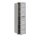 Salsbury Industries 3714S-06AFP Recessed Mounted 4C Horizontal Mailbox - 14 Door High Unit (51 1/2 Inches) - Single Column - 6 MB2 Doors - Aluminum - Front Loading - Private Access