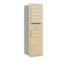 Salsbury Industries 3714S-07SRP Recessed Mounted 4C Horizontal Mailbox - 14 Door High Unit (51 1/2 Inches) - Single Column - 7 MB1 Doors / 1 PL5 - Sandstone - Rear Loading - Private Access