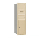 Salsbury Industries 3714S-1CSF Recessed Mounted 4C Horizontal Collection Box - 14 Door High Unit (51 1/2 Inches) - Single Column - Sandstone - Front Access