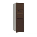 Salsbury Industries 3714S-1CZR Recessed Mounted 4C Horizontal Collection Box - 14 Door High Unit (51 1/2 Inches) - Single Column - Bronze - Rear Access
