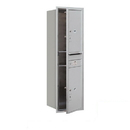 Salsbury Industries 3714S-2PAFP Recessed Mounted 4C Horizontal Mailbox-14 Door High Unit (51 1/2 Inches)-Single Column-Stand-Alone Parcel Locker-2 PL6s-Aluminum-Front Loading-Private Access