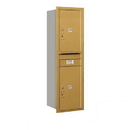 Salsbury Industries 3714S-2PGRP Recessed Mounted 4C Horizontal Mailbox - 14 Door High Unit (51 1/2 Inches) - Single Column - Stand-Alone Parcel Locker - 2 PL6s - Gold - Rear Loading - Private Access