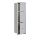 Salsbury Industries 3714S-3PAFP Recessed Mounted 4C Horizontal Mailbox-14 Door High Unit(51 1/2 Inches)-Single Column-Stand-Alone Parcel Locker-1 PL4/2 PL5's-Aluminum-Front Loading-Private Access