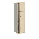 Salsbury Industries 3714S-3PSFU Recessed Mounted 4C Horizontal Mailbox-14 Door High Unit (51 1/2 Inches)-Single Column-Stand-Alone Parcel Locker-1 PL4 and 2 PL5's-Sandstone-Front Loading-USPS Access