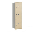 Salsbury Industries 3714S-3PSRU Recessed Mounted 4C Horizontal Mailbox-14 Door High Unit (51 1/2 Inches)-Single Column-Stand-Alone Parcel Locker-1 PL4 and 2 PL5's-Sandstone-Rear Loading-USPS Access