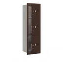 Salsbury Industries 3714S-3PZFP Recessed Mounted 4C Horizontal Mailbox-14 Door High Unit (51 1/2 Inches)-Single Column-Stand-Alone Parcel Locker-1 PL4 and 2 PL5's-Bronze-Front Loading-Private Access