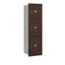 Salsbury Industries 3714S-3PZRP Recessed Mounted 4C Horizontal Mailbox-14 Door High Unit (51 1/2 Inches)-Single Column-Stand-Alone Parcel Locker-1 PL4 and 2 PL5's-Bronze-Rear Loading-Private Access