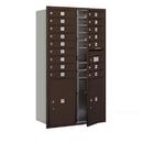 Salsbury Industries 3715D-16ZFU Recessed Mounted 4C Horizontal Mailbox - 15 Door High Unit (55 Inches) - Double Column - 16 MB1 Doors / 2 PL6's - Bronze - Front Loading - USPS Access
