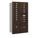 Salsbury Industries 3715D-17ZRP Recessed Mounted 4C Horizontal Mailbox - 15 Door High Unit (55 Inches) - Double Column - 17 MB1 Doors / 1 PL5 and 1 PL6 - Bronze - Rear Loading - Private Access