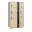 Salsbury Industries 3715D-18SFU Recessed Mounted 4C Horizontal Mailbox - 15 Door High Unit (55 Inches) - Double Column - 18 MB1 Doors / 2 PL5's - Sandstone - Front Loading - USPS Access