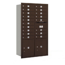 Salsbury Industries 3715D-18ZRU Recessed Mounted 4C Horizontal Mailbox - 15 Door High Unit (55 Inches) - Double Column - 18 MB1 Doors / 2 PL5's - Bronze - Rear Loading - USPS Access