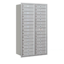 Salsbury Industries 3715D-29ARP Recessed Mounted 4C Horizontal Mailbox (Includes Master Commercial Lock)-15 Door High Unit (55 Inches)-Double Column-29 MB1 Doors-Aluminum-Rear Loading-Private Access
