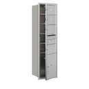 Salsbury Industries 3715S-04AFP Recessed Mounted 4C Horizontal Mailbox - 15 Door High Unit (55 Inches) - Single Column - 4 MB2 Doors / 1 PL5 - Aluminum - Front Loading - Private Access