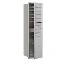 Salsbury Industries 3715S-06AFP Recessed Mounted 4C Horizontal Mailbox - 15 Door High Unit (55 Inches) - Single Column - 6 MB1 Doors / 1 PL6 - Aluminum - Front Loading - Private Access