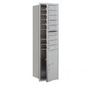 Salsbury Industries 3715S-07AFP Recessed Mounted 4C Horizontal Mailbox - 15 Door High Unit (55 Inches) - Single Column - 7 MB1 Doors / 1 PL6 - Aluminum - Front Loading - Private Access