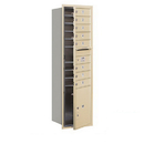 Salsbury Industries 3715S-08SFU Recessed Mounted 4C Horizontal Mailbox - 15 Door High Unit (55 Inches) - Single Column - 8 MB1 Doors / 1 PL5 - Sandstone - Front Loading - USPS Access