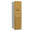 Salsbury Industries 3715S-1CGR Recessed Mounted 4C Horizontal Collection Box - 15 Door High Unit (55 Inches) - Single Column - Gold - Rear Access