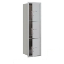 Salsbury Industries 3715S-3PAFP Recessed Mounted 4C Horizontal Mailbox - 15 Door High Unit(55 Inches)- Single Column - Stand-Alone Parcel Locker - 3 PL5s - Aluminum - Front Loading - Private Access