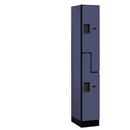 Salsbury Industries 37168BLU Designer Wood Locker - Double Tier S Style - 1 Wide - 6 Feet High - 18 Inches Deep - Blue