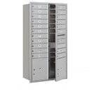 Salsbury Industries 3716D-19AFP Recessed Mounted 4C Horizontal Mailbox - Maximum Height Unit (56 3/4 Inches) - Double Column - 19 MB1 Doors / 2 PL4.5's - Aluminum - Front Loading - Private Access