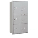 Salsbury Industries 3716D-6PARU Recessed Mounted 4C Horizontal Mailbox-Maximum Height Unit(56 3/4 Inches)-Double Column-Stand-Alone Parcel Locker-Aluminum-Rear Loading