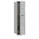 Salsbury Industries 3716S-09AFP Recessed Mounted 4C Horizontal Mailbox - Maximum Height Unit (56 3/4 Inches) - Single Column - 9 MB1 Doors / 1 PL4.5 - Aluminum - Front Loading - Private Access