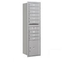 Salsbury Industries 3716S-09ARU Recessed Mounted 4C Horizontal Mailbox - Maximum Height Unit (56 3/4 Inches) - Single Column - 9 MB1 Doors / 1 PL4.5 - Aluminum - Rear Loading - USPS Access