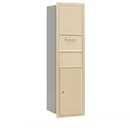 Salsbury Industries 3716S-1CSR Recessed Mounted 4C Horizontal Collection Box - Maximum Height Unit (56 3/4 Inches) - Single Column - Sandstone - Rear Access