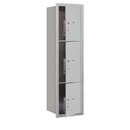 Salsbury Industries 3716S-3PAFU Recessed Mounted 4C Horizontal Mailbox-Maximum Height Unit(56 3/4 Inches)-Single Column-Stand-Alone Parcel Locker-Aluminum-Front Loading-USPS Access