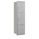 Salsbury Industries 3716S-3PARP Recessed Mounted 4C Horizontal Mailbox-Maximum Height Unit(56 3/4 Inches)-Single Column-Stand-Alone Parcel Locker-Aluminum-Rear Loading-Private Access