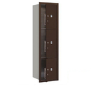 Salsbury Industries 3716S-3PZFP Recessed Mounted 4C Horizontal Mailbox-Maximum Height Unit(56 3/4 Inches)-Single Column-Stand-Alone Parcel Locker-Bronze-Front Loading-Private Access