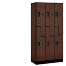 Salsbury Industries 37368MAH Designer Wood Locker - Double Tier S Style - 3 Wide - 6 Feet High - 18 Inches Deep - Mahogany