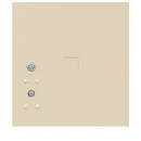 Salsbury Industries 3754P-SAN Replacement Parcel Locker Door and Tenant Lock - for Standard 4 High (PL4) 4C Horizontal Parcel Locker - with (3) Keys - Sandstone