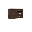 Salsbury Industries 3805D-03ZFU Surface Mounted 4C Horizontal Mailbox Unit - 5 Door High Unit (21-1/8 Inches) - Double Column - 3 MB1 Doors / 1 PL5 - Bronze - Front Loading - USPS Access