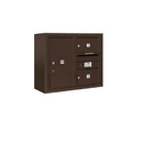 Salsbury Industries 3806D-02ZFP Surface Mounted 4C Horizontal Mailbox Unit - 6 Door High Unit (24-5/8 Inches) - Double Column - 2 MB2 Doors / 1 PL6 - Bronze - Front Loading - Private Access