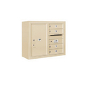 Salsbury Industries 3806D-04SFP Surface Mounted 4C Horizontal Mailbox Unit - 6 Door High Unit (24-5/8 Inches) - Double Column - 4 MB1 Doors / 1 PL6 - Sandstone - Front Loading - Private Access