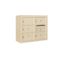 Salsbury Industries 3806D-05SFU Surface Mounted 4C Horizontal Mailbox Unit - 6 Door High Unit (24-5/8 Inches) - Double Column - 5 MB2 Doors - Sandstone - Front Loading - USPS Access