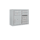 Salsbury Industries 3806D-06AFU Surface Mounted 4C Horizontal Mailbox Unit - 6 Door High Unit (24-5/8 Inches) - Double Column - 6 MB1 Doors / 1 PL4 - Aluminum - Front Loading - USPS Access