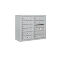 Salsbury Industries 3806D-09AFP Surface Mounted 4C Horizontal Mailbox Unit - 6 Door High Unit (24-5/8 Inches) - Double Column - 9 MB1 Doors - Aluminum - Front Loading - Private Access