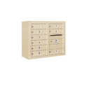 Salsbury Industries 3806D-09SFU Surface Mounted 4C Horizontal Mailbox Unit - 6 Door High Unit (24-5/8 Inches) - Double Column - 9 MB1 Doors - Sandstone - Front Loading - USPS Access