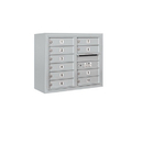 Salsbury Industries 3806D-10AFP Surface Mounted 4C Horizontal Mailbox Unit - 6 Door High Unit (24-5/8 Inches) - Double Column - 10 MB1 Doors - Aluminum - Front Loading - Private Access